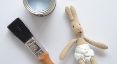 paint tin and bunny