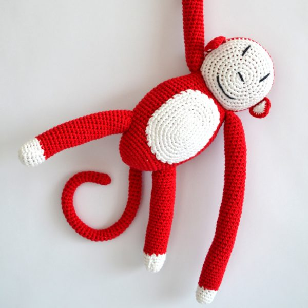 funky crochet monkey from Anne-Claire Petit