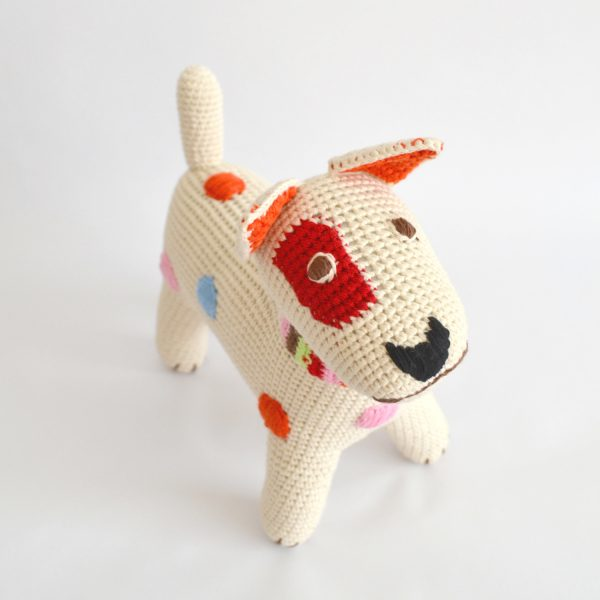 crocheted terrier pooch