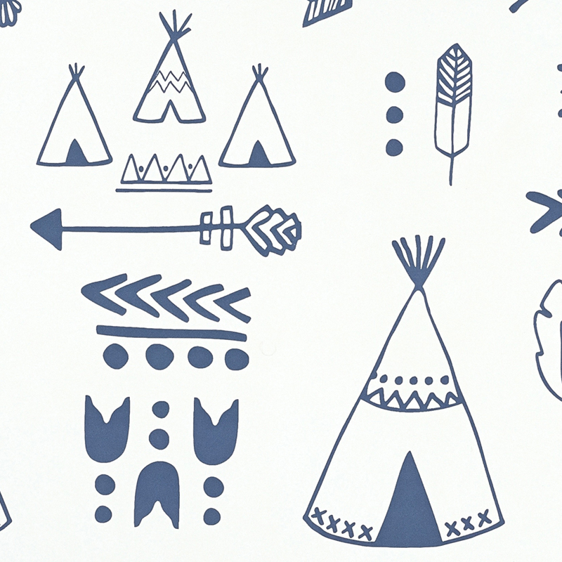 white teepees wallpaper