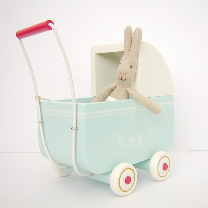 Maileg wooden toy pram