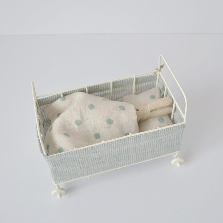 Maileg baby bunny and cot set