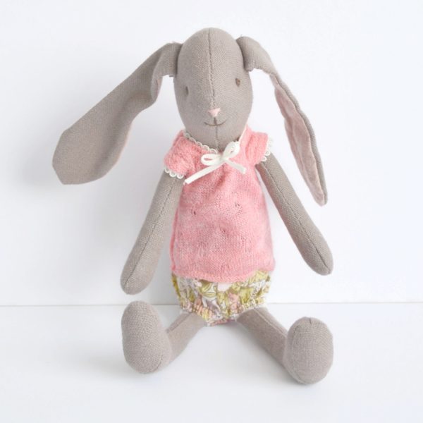 mini bunny in floral bloomers