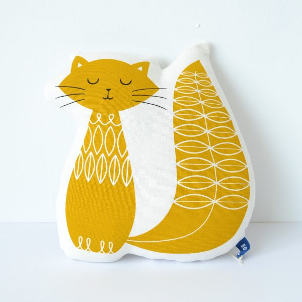 cat-shaped cushion