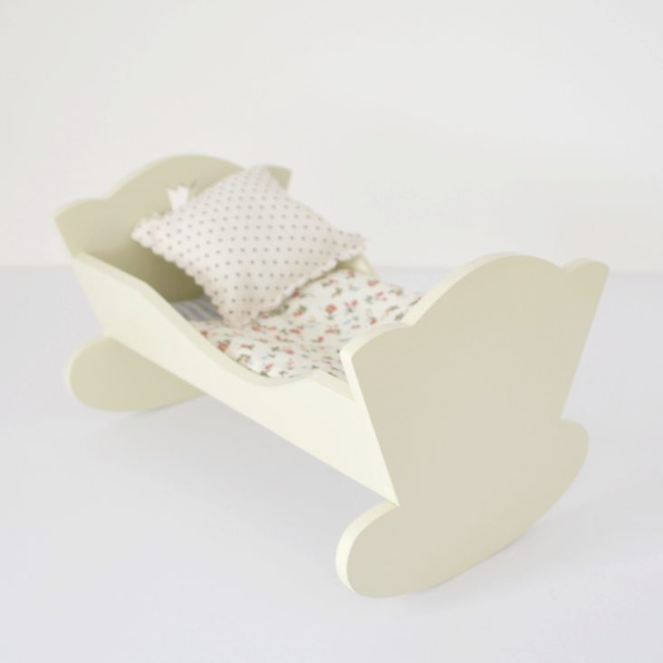 wooden toy cradle