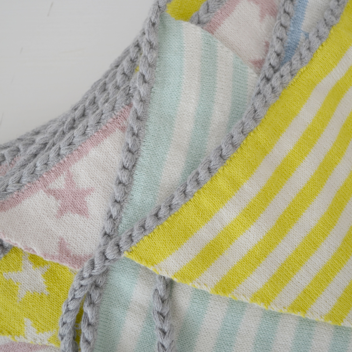 cotton bunting detail