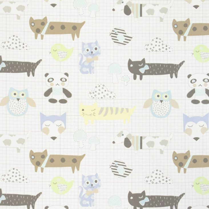 My Best Friend fabric almond