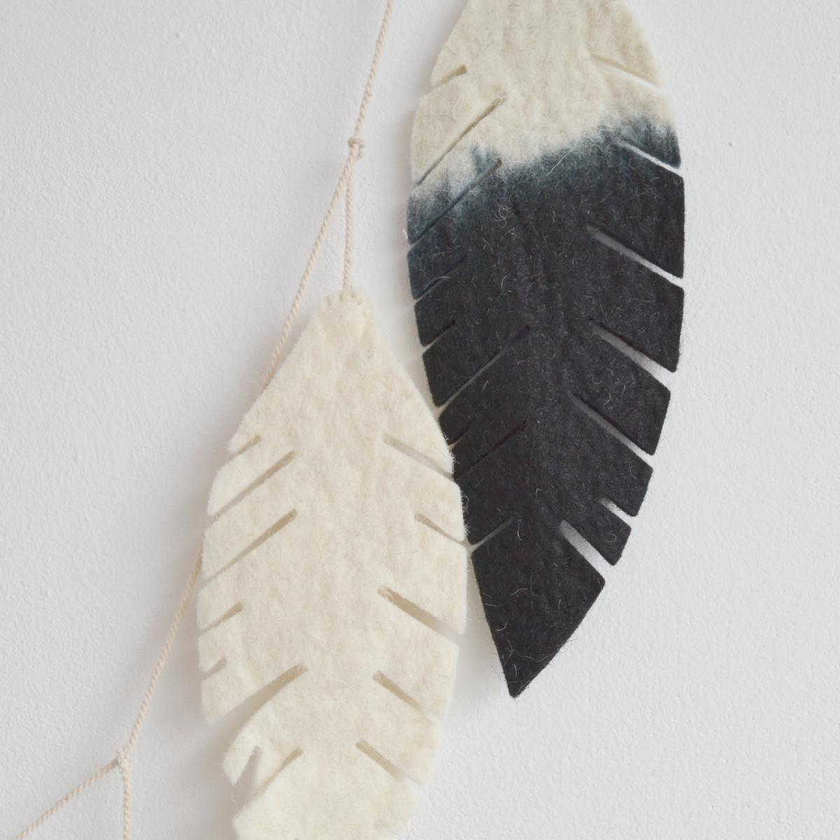 feather garland detail