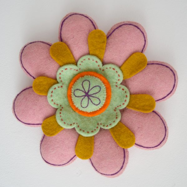 felt flower wall decoration