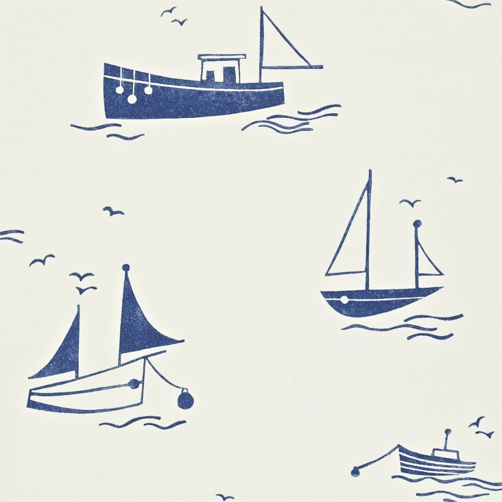 Sail Away wallpaper navy
