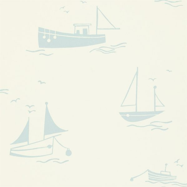 Sail Away wallpaper light blue