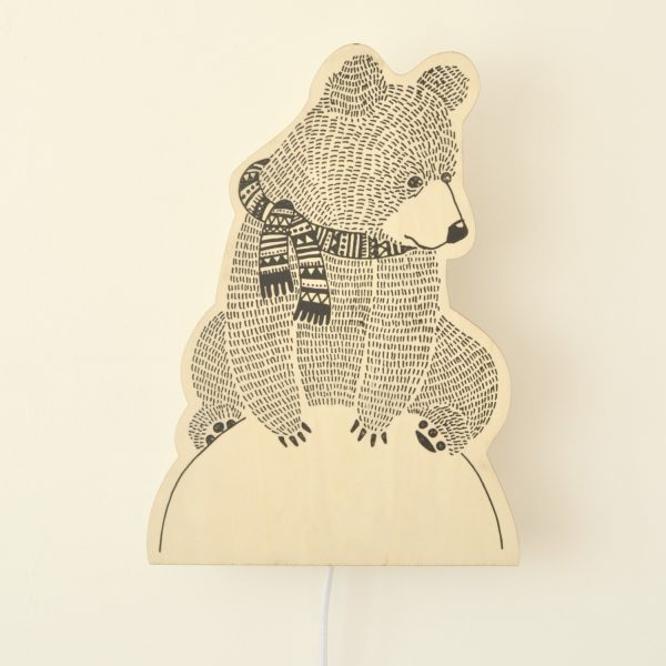 plywood bear lamp