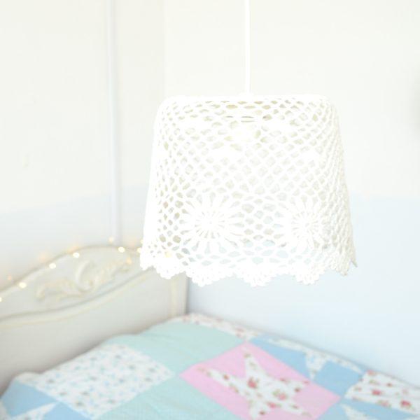 crochet pendant lampshade