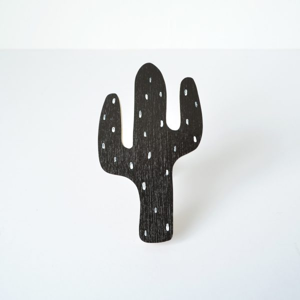 black cactus wall hook