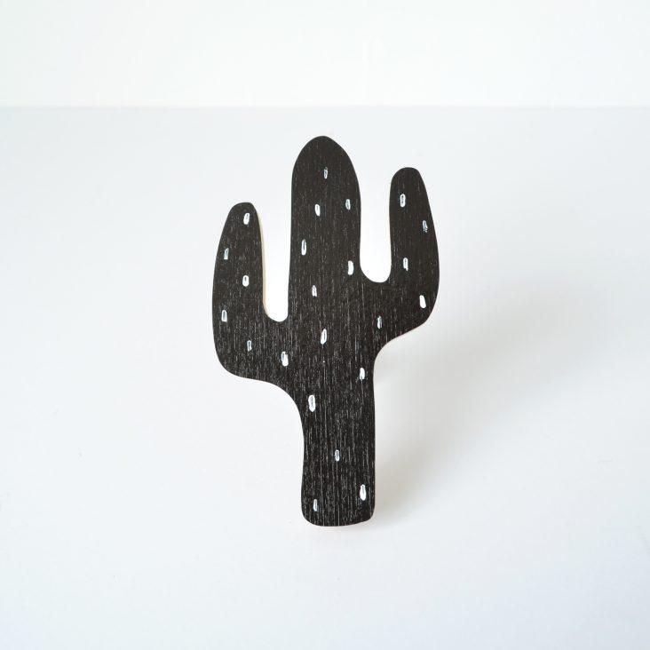 black cactus wall hook