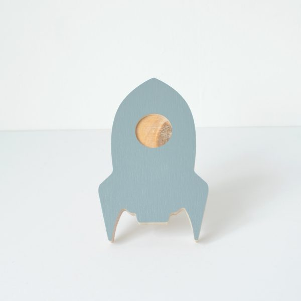 light blue rocket wall hook