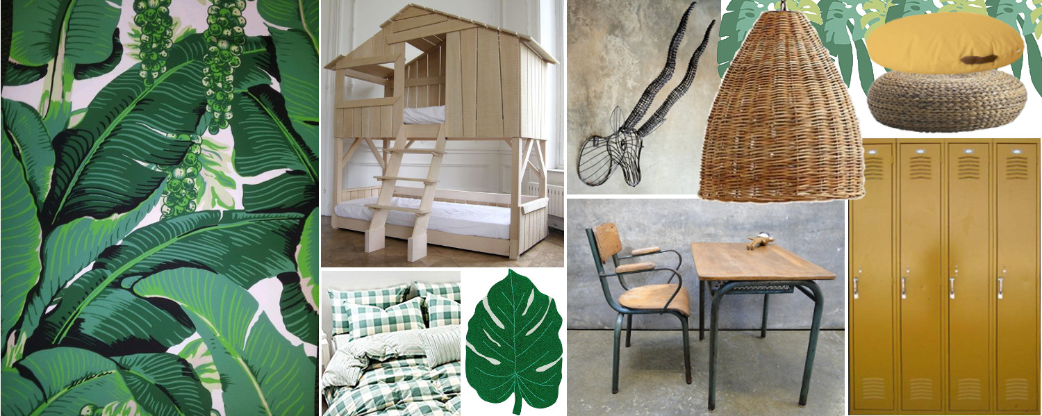 Jungle theme moodboard