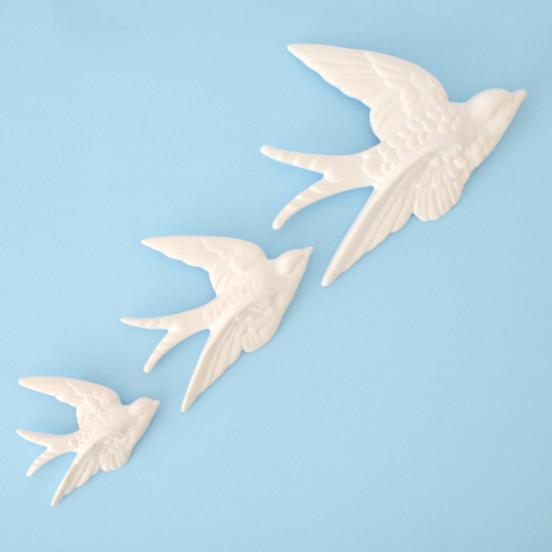 ceramic birds wall decor