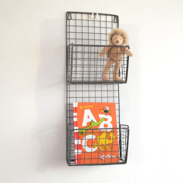 Small metal magazine rack