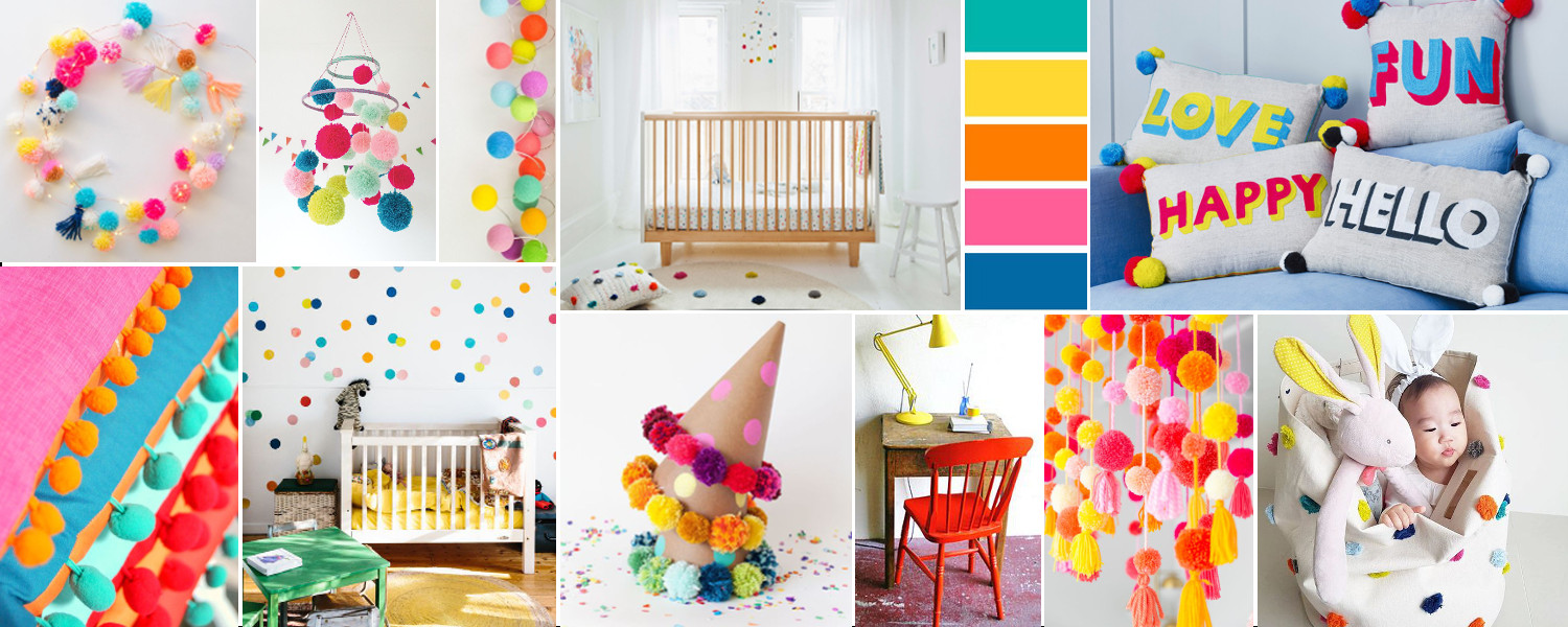 pompom ideas for kid's rooms