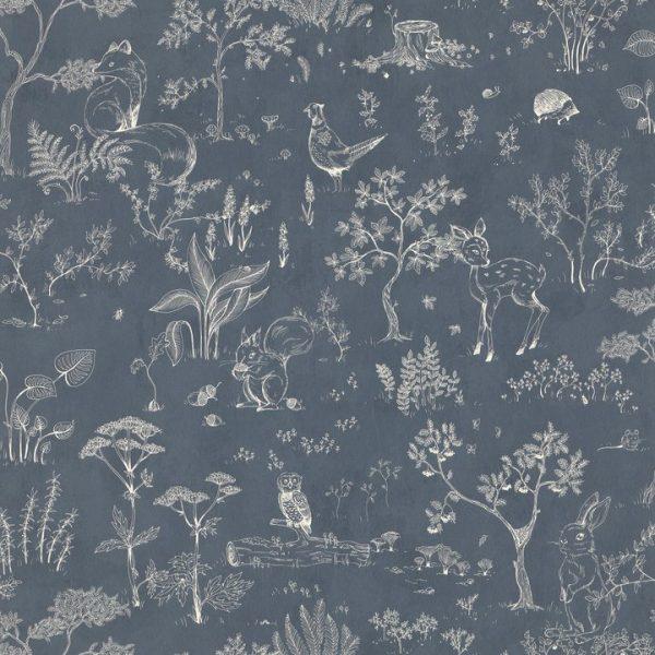Hollie wallpaper in blue from Sandberg