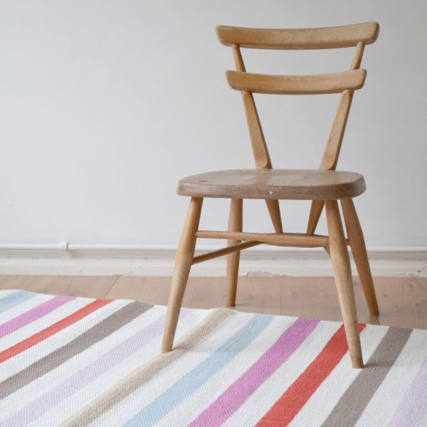 kid's striped cotton rug