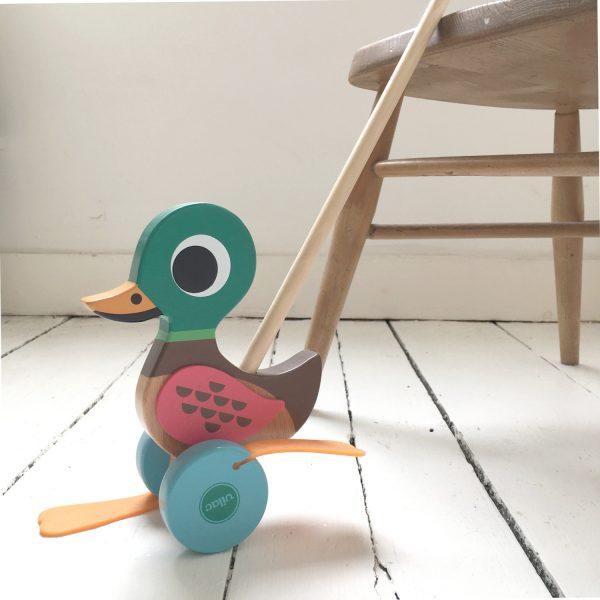 vilac wooden flip flap duck toy