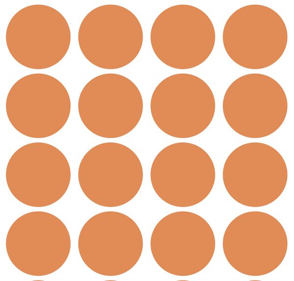 Lilipinso large dot wall stickers in Tangerine